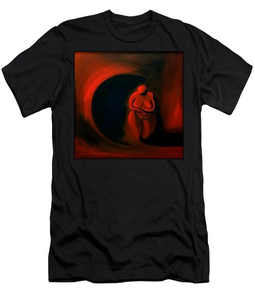 Men's T-Shirt (Athletic Fit) featuring the painting Lady Willendorf by James Lanigan Thompson MFA