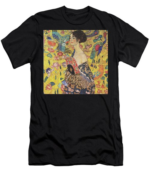Lady With Fan Men's T-Shirt (Athletic Fit)