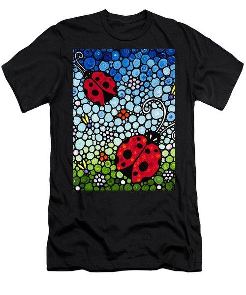 Ladybug Art - Joyous Ladies 2 - Sharon Cummings Men's T-Shirt (Athletic Fit)