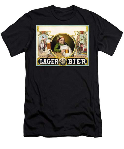 Lager Beer Stock Advertising Poster 1879 Men's T-Shirt (Athletic Fit)