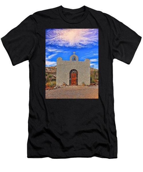 Lajitas Chapel Painted Men's T-Shirt (Athletic Fit)