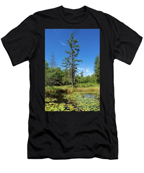 Men's T-Shirt (Athletic Fit) featuring the photograph Lake Birkensee Nature Park Schoenbuch Germany by Matthias Hauser
