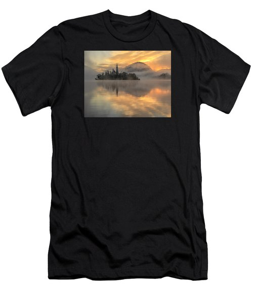 Lake Bled Sunrise Slovenia Men's T-Shirt (Athletic Fit)