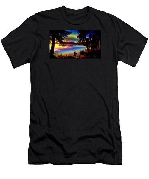 Lake Canoe Men's T-Shirt (Athletic Fit)