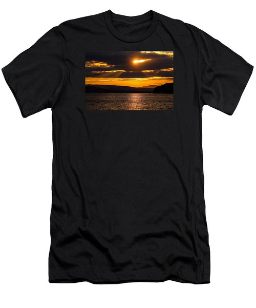 Lake Champlain Sunset Men's T-Shirt (Athletic Fit)