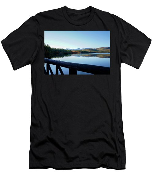 Lake Chocorua Autumn Men's T-Shirt (Slim Fit) by Nancy De Flon
