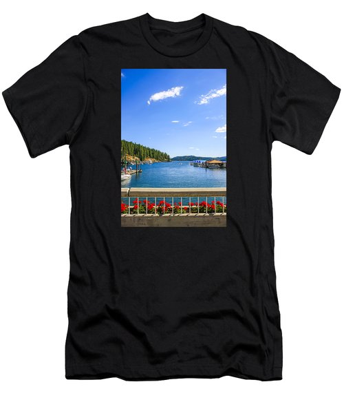 Lake Coeur D'alene Idaho Men's T-Shirt (Athletic Fit)