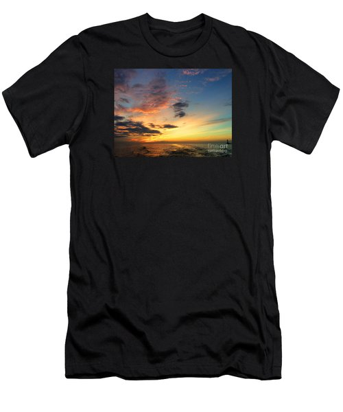 Lake Erie Sunset 2 Men's T-Shirt (Athletic Fit)