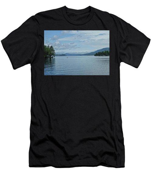 Lake George Kayaker Men's T-Shirt (Athletic Fit)