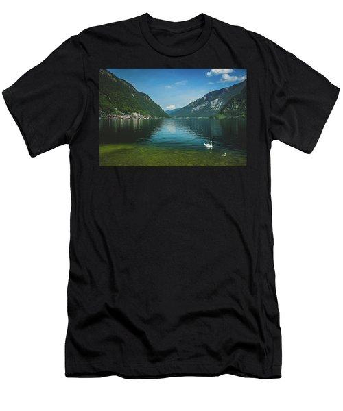 Lake Hallstatt Swans Men's T-Shirt (Athletic Fit)