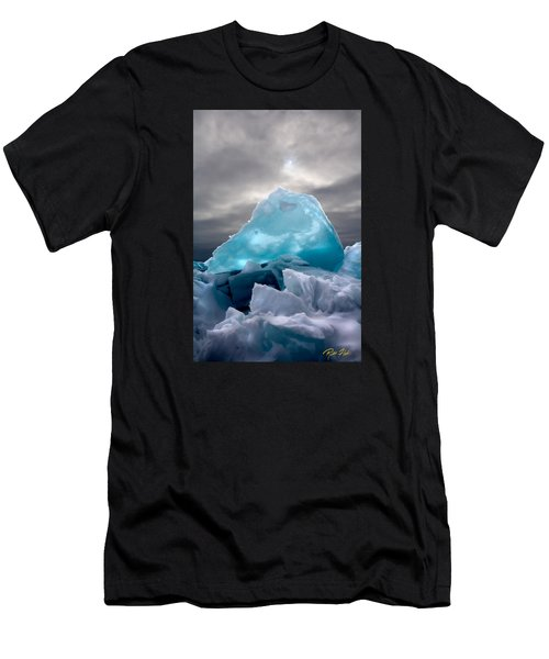 Men's T-Shirt (Athletic Fit) featuring the photograph Lake Ice Berg by Rikk Flohr