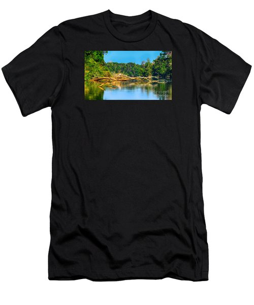 Lake In A Jungle Men's T-Shirt (Athletic Fit)