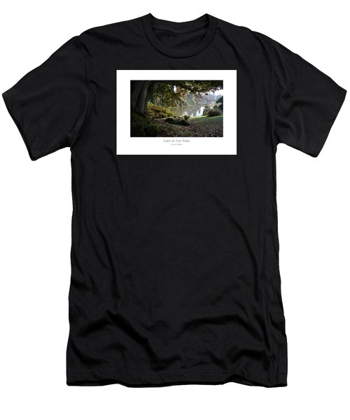 Men's T-Shirt (Athletic Fit) featuring the digital art Lake In The Park by Julian Perry