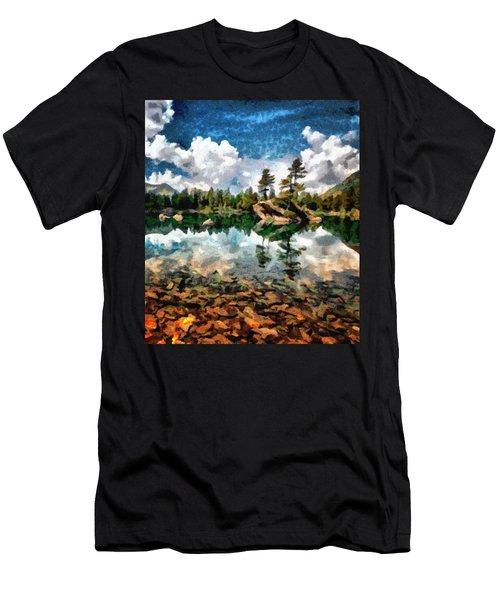 Lake Island View Men's T-Shirt (Athletic Fit)