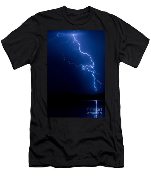 Lake Lightning Strike Men's T-Shirt (Athletic Fit)