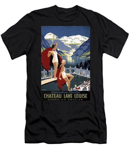 Lake Louise Canada Vintage Travel  Men's T-Shirt (Athletic Fit)
