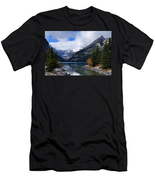 Lake Louise Men's T-Shirt (Slim Fit) by Larry Ricker