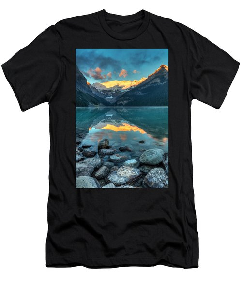 Lake Louise Sunrise Men's T-Shirt (Athletic Fit)
