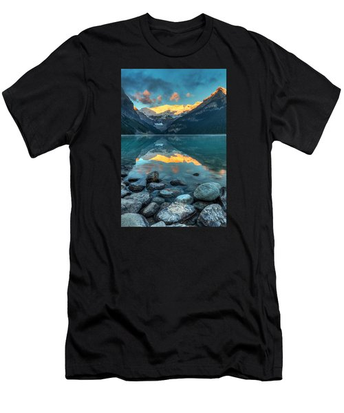 Lake Louise Sunrise Men's T-Shirt (Athletic Fit)