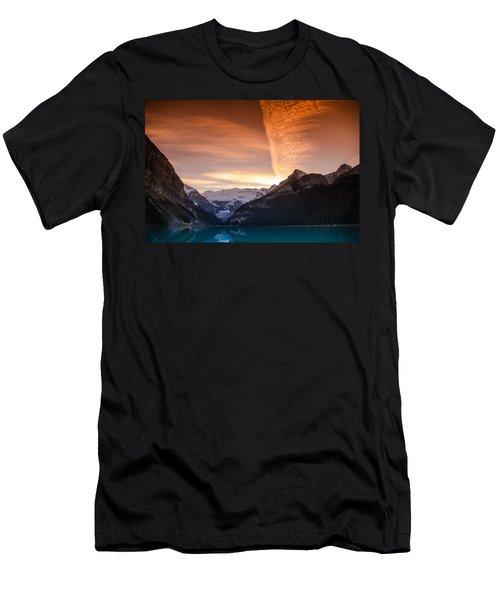 Lake Louise Sunset Men's T-Shirt (Athletic Fit)