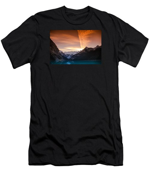 Lake Louise Sunset Men's T-Shirt (Athletic Fit)