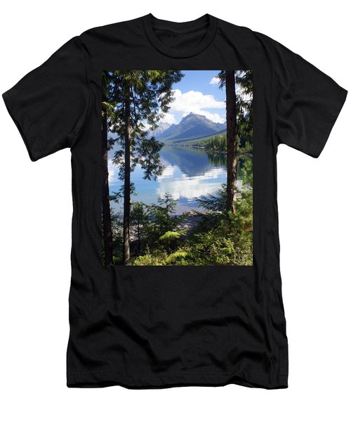 Lake Mcdlonald Through The Trees Glacier National Park Men's T-Shirt (Athletic Fit)