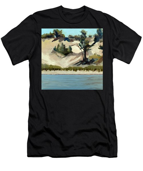Lake Michigan Dune With Trees And Beach Grass Men's T-Shirt (Athletic Fit)