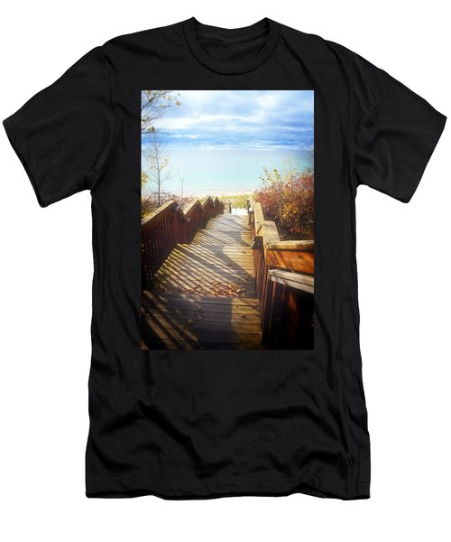 Men's T-Shirt (Athletic Fit) featuring the photograph Lake Michigan In The North by Michelle Calkins