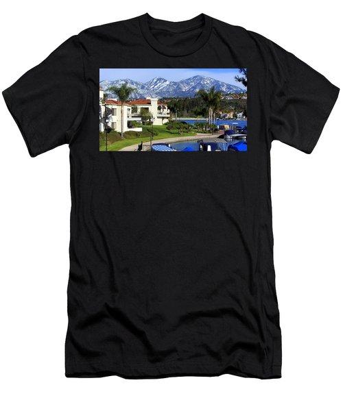 Lake Mission Viejo Snow On Saddleback Mountain Men's T-Shirt (Athletic Fit)