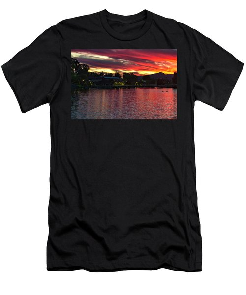 Lake Of Fire Men's T-Shirt (Athletic Fit)
