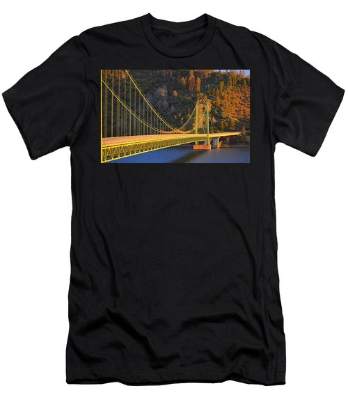 Lake Oroville Green Bridge At Sunset Men's T-Shirt (Athletic Fit)