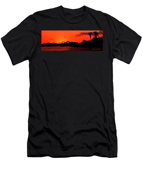 Lake Osborne Sunset Men's T-Shirt (Athletic Fit)