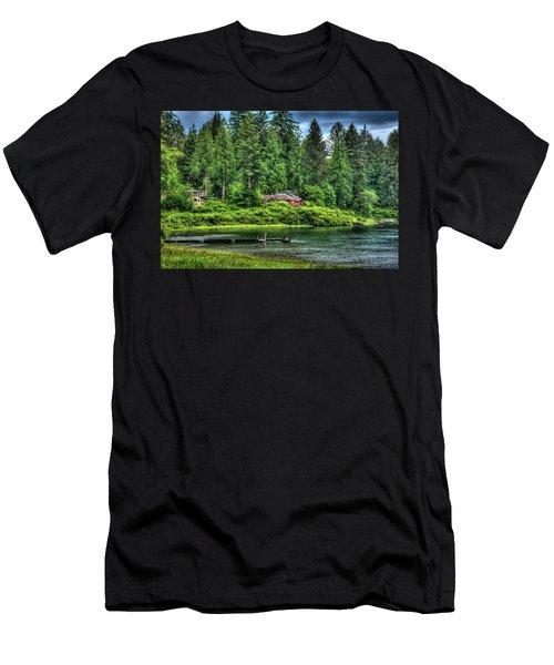 Lake Quinault 3 Men's T-Shirt (Slim Fit) by Richard J Cassato