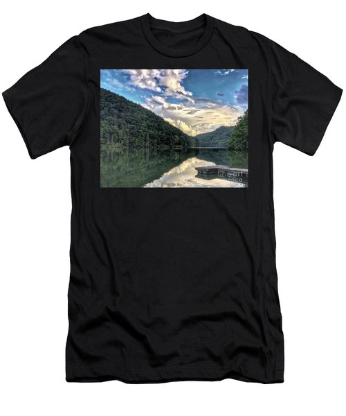 Men's T-Shirt (Athletic Fit) featuring the photograph Lake Reflections by Kerri Farley