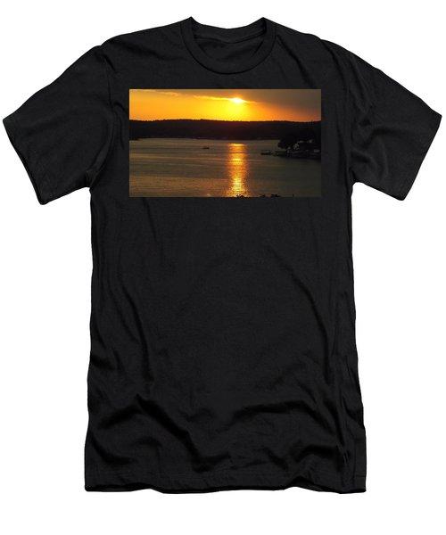 Lake Sunset  Men's T-Shirt (Slim Fit) by Don Koester