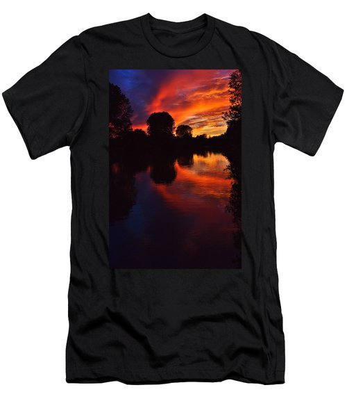 Lake Sunset Reflections Men's T-Shirt (Athletic Fit)