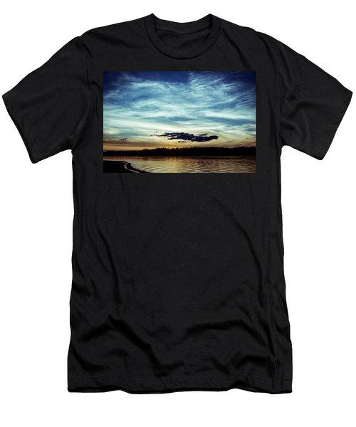 Lake Sunset Men's T-Shirt (Slim Fit) by Scott Meyer