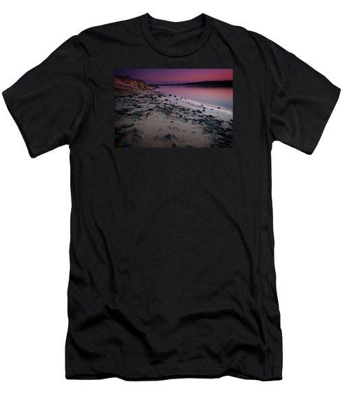 Lake Sunset Vii Men's T-Shirt (Slim Fit)