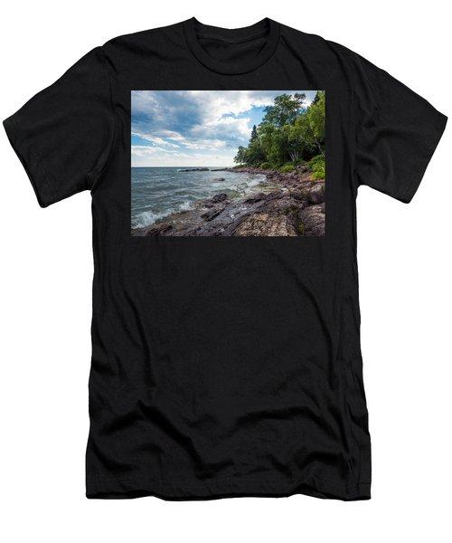 Lake Superior Shore In Lutsen 1 Men's T-Shirt (Athletic Fit)