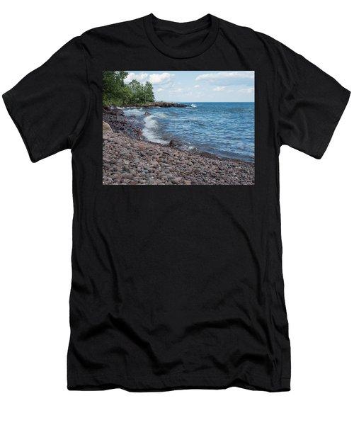 Lake Superior Shore In Lutsen Minnesota Men's T-Shirt (Athletic Fit)