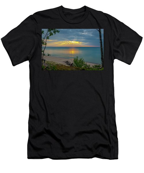 Lake Superior Sunset Men's T-Shirt (Athletic Fit)