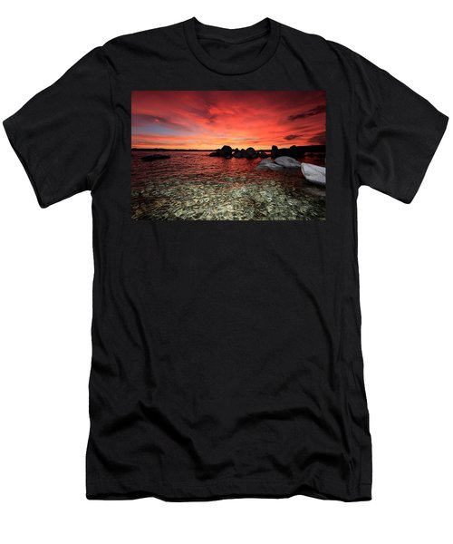 Men's T-Shirt (Athletic Fit) featuring the photograph Lake Tahoe Liquid Dreams by Sean Sarsfield