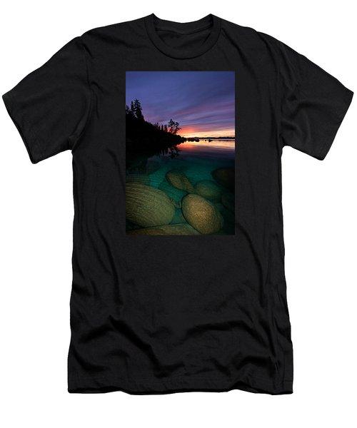 Lake Tahoe Sunset Portrait Men's T-Shirt (Athletic Fit)