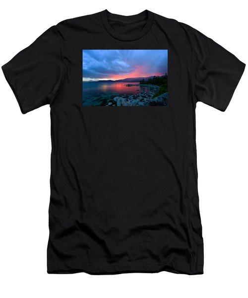 Lake Tahoe Sunset Men's T-Shirt (Slim Fit) by Sean Sarsfield