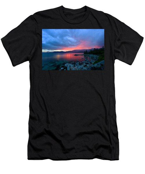 Lake Tahoe Sunset Men's T-Shirt (Athletic Fit)
