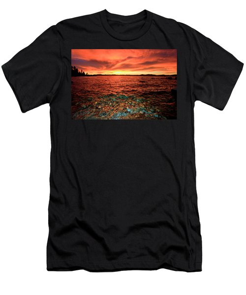 Lake Tahoe...blood Moon Sunset Men's T-Shirt (Athletic Fit)