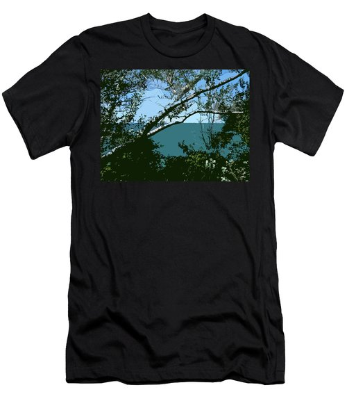 Lake Through The Trees Men's T-Shirt (Athletic Fit)
