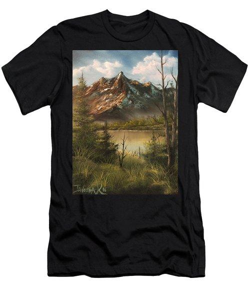 Lake View Mountain  Men's T-Shirt (Athletic Fit)