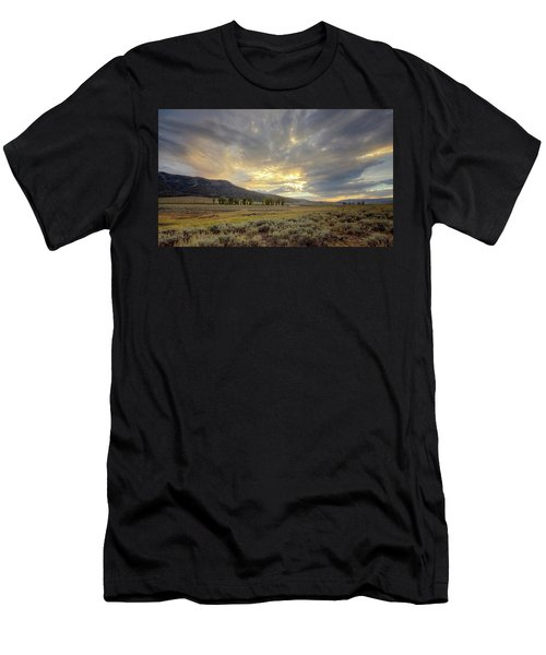 Lamar Valley Sunset Men's T-Shirt (Athletic Fit)
