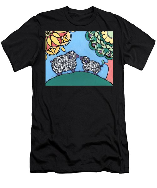 Lamb And Mama Sheep Men's T-Shirt (Athletic Fit)